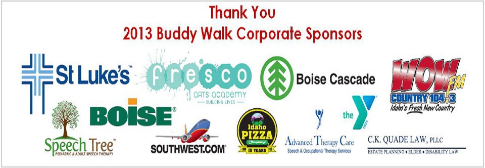 2013 Buddy Walk Sponsors