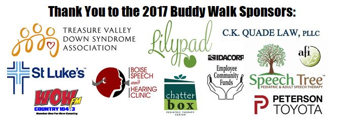 Thank You to the 2017 Buddy Walk Sponsors